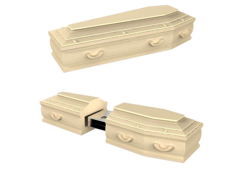 coffin flash drive