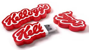 Kellog Custom shaped usb drive