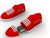 running shoe shaped usb