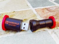 Pipe shaped custom USB