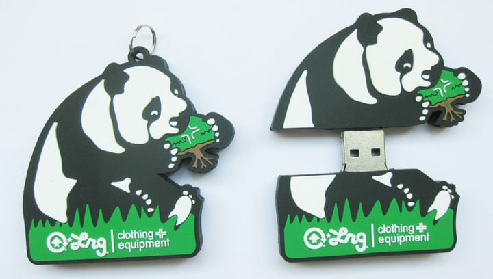 LRG custom rubber flash drives