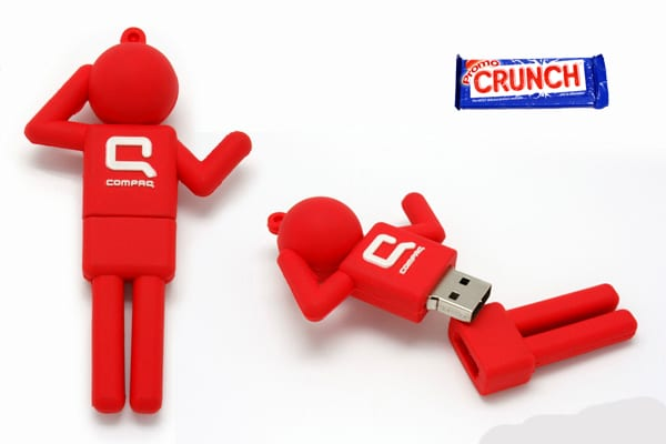 custom rubber flash drives