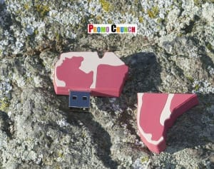 T Bone steak custom shaped USB Flash Drive