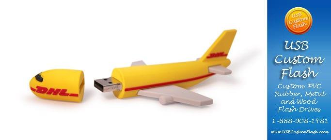 Custom Airplane Shaped USB Flash Drive