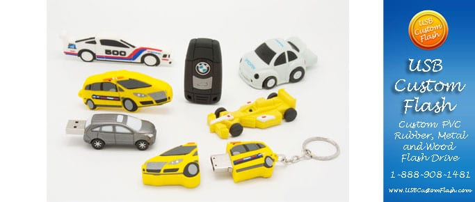 cars Custom PVC Rubber USB Flash Drives