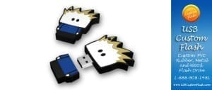 USB Custom Flash is a unique design house dedicated to creating the best in custom PVC Rubber flash drives custom, design, 1 GB, 16 GB, 2 GB, 4 GB, 8 GB,PVC, custom,  business, corporate, custom. For nearly a decade USB Custom Flash has created thousands of unique custom design. Now they are proud to offer the world's top selling inexpensive stock USB flash drives.  These logo friendly flash drives are available in 7-10 working days and are delivered from our factory direct to your door. We take care of all costs and paperwork including customs, brokerage, freight, duties, shipping, logo preparation and design. For more information visit us at www.USBCustomFlash.com or call 1-888-908-1481