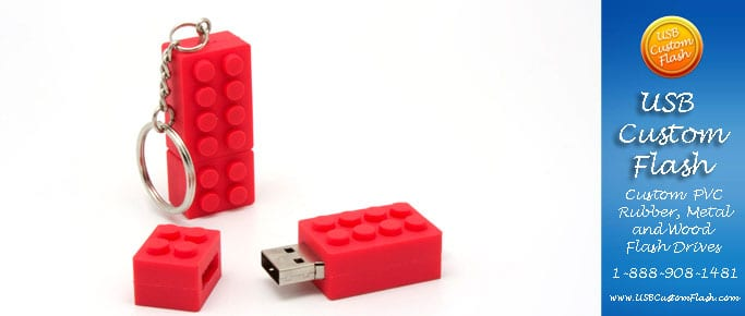 Custom lego shaped usb flash drive