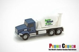 cement truck custom shaped USB flash drive for marketing and promotion