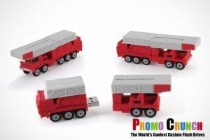fire truck  custom shaped USB flash drive for marketing and promotion