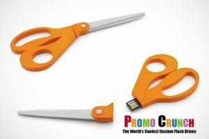 scissor shaped USB Memory flash drive