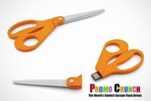 scissor shaped USB Memory flash drive