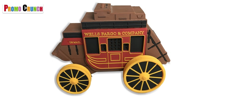 Wells Fargo stagecoach custom bluetooth speaker and power bank