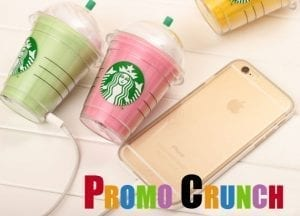 starbucks cup custom molded by Promo Crunch to resemble a starbucks cup. Promotional product shaped as a custom power bank battery charger promotional product.