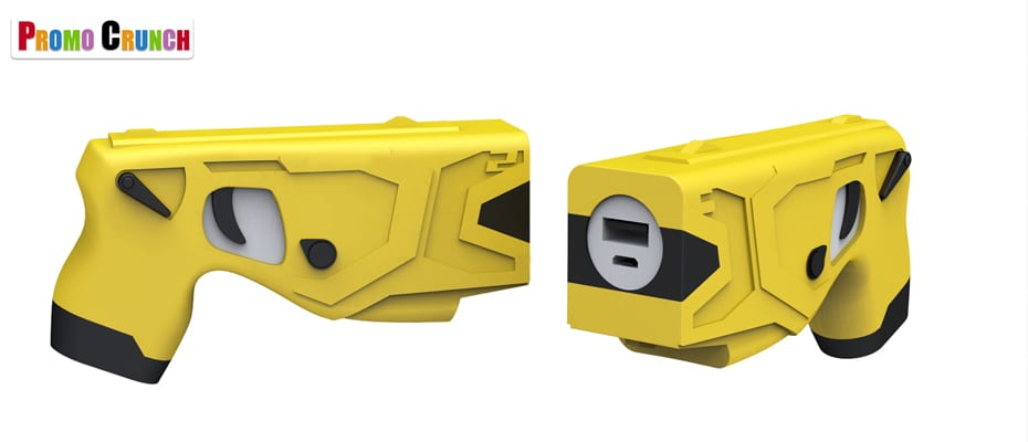 Taser shaped custom power bank battery charger