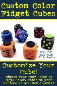 custom color fidget cubes