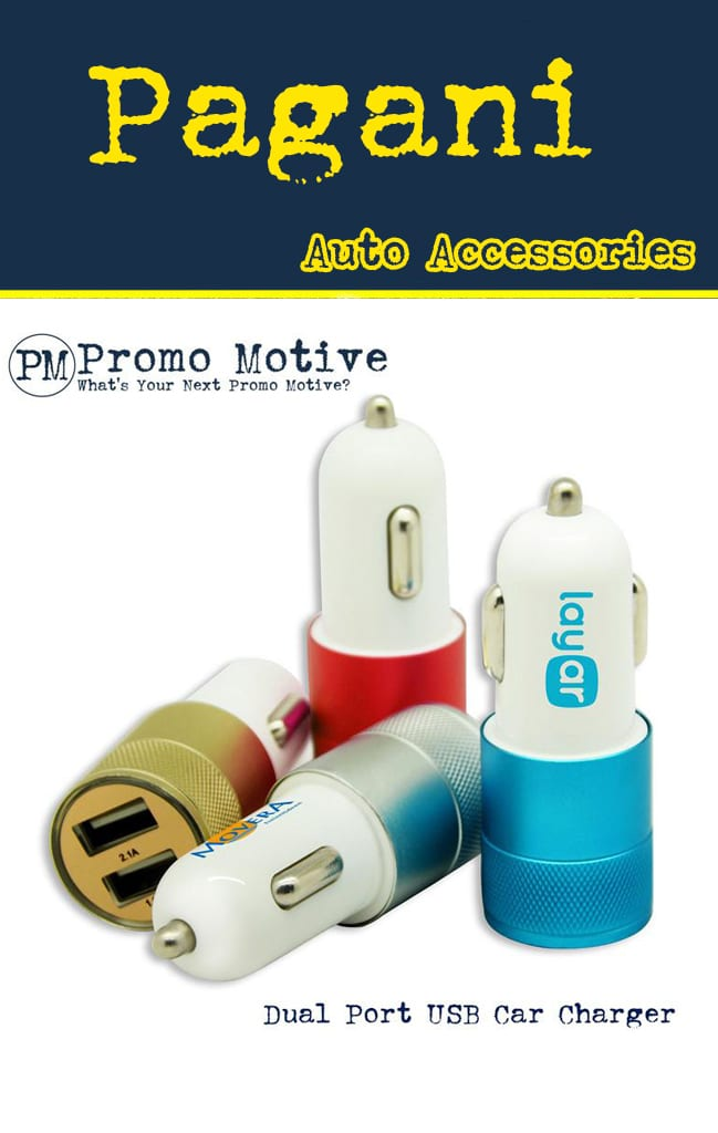 Dual Port USB car lighter Promotional Product