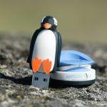 Penguin custom usb pvc rubber flash drives