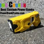 taser custom portable battery charger power banks for smart phones, cell phones and tablets