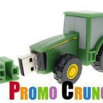 tractor custom usb custom pvc power banks for marketing and promotional