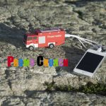 fire truck world's best custom molded power bank portable battery charger