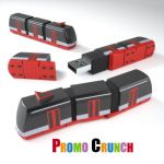 train custom usb custom pvc power banks for marketing and promotional