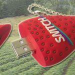 strawberry_Custom_Rubber_USB_Flash_Drives
