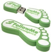 """Foot shaped custom flash drive.. Promo Crunch. Home to the """"World's Coolest Custom 3D Flash Drives"""". Turn your logo, idea or product into a 3D custom shaped USB flash drive."""