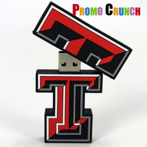 letter T custom usb pvc rubber flash drives