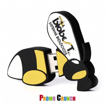 bee shaped custom usb pvc rubber flash drives