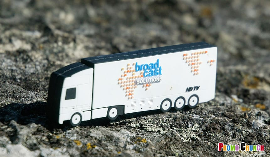 Truck Shaped custom flash drives from the experts at Promo Crunch.