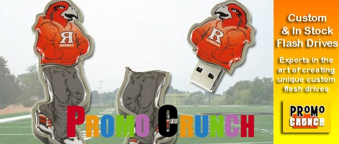 rutgers custom usb pvc rubber flash drives