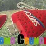 strawberry custom usb pvc rubber flash drives