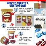 flyer custom usb pvc rubber flash drives