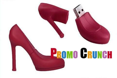 high heel custom usb pvc rubber flash drives