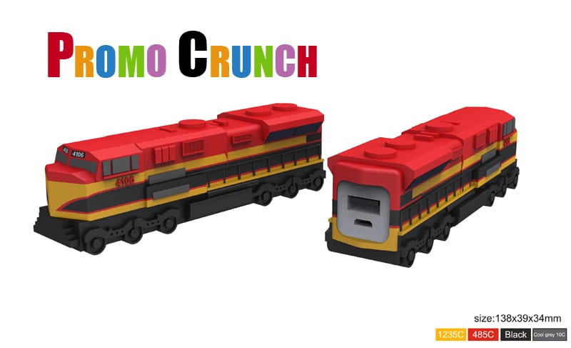 custom power bank train shape