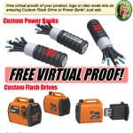 free virtual proof of flash drive or power banks