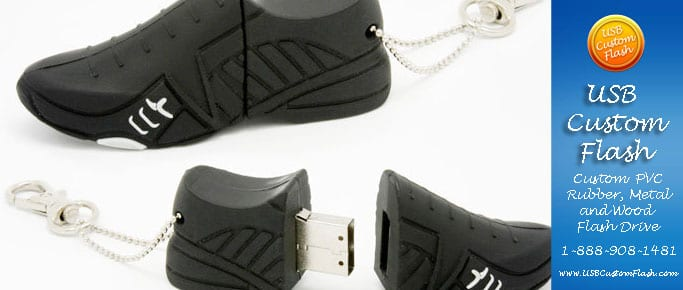 Running shoe Custom PVC Rubber USB Flash Drives