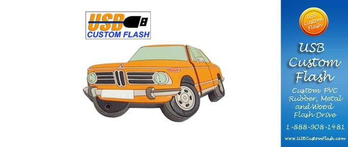 car Custom PVC Rubber USB Flash Drives