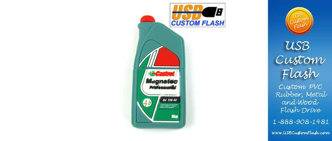 Castrol Custom PVC Rubber USB Flash Drives