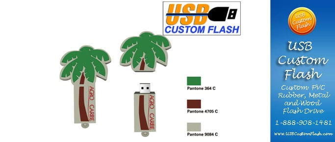 tree Custom PVC Rubber USB Flash Drives