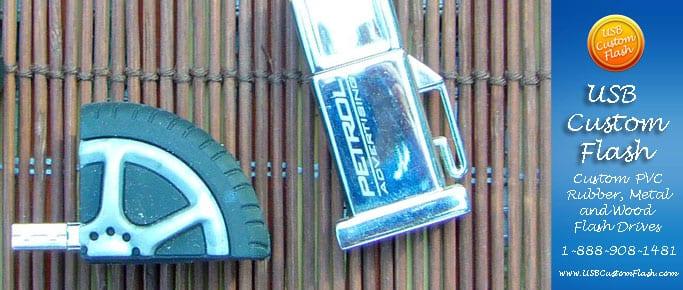 Rubber tire Custom PVC Rubber USB Flash Drives