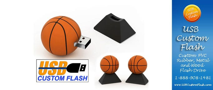 Basketball Custom PVC Rubber USB Flash Drives
