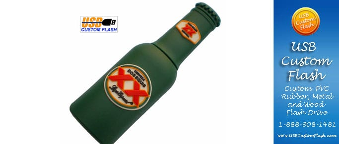Beer Custom PVC Rubber USB Flash Drives