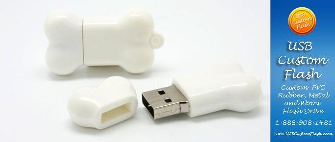 Bone Custom PVC Rubber USB Flash Drives