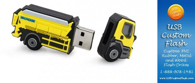 truck usb custom rubber pvc flash drives