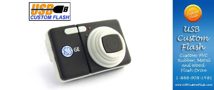 Camera Custom PVC Rubber USB Flash Drives