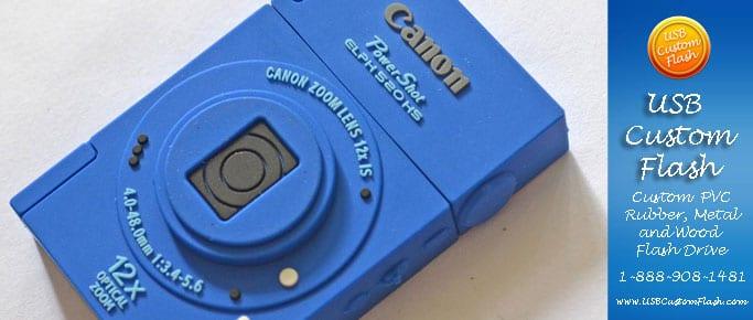 camera Custom PVC Rubber USB Flash Drives
