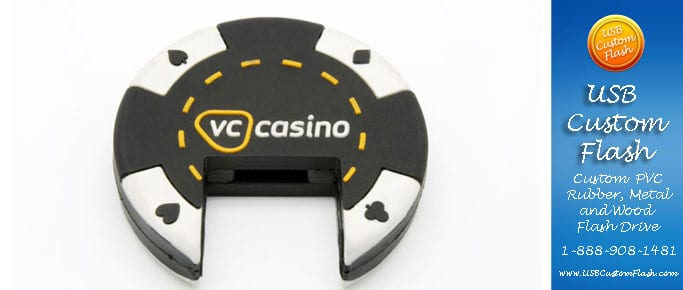 Casino Custom PVC Rubber USB Flash Drives