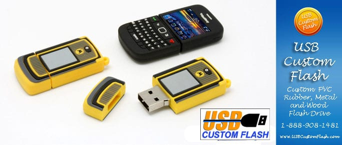 Phone Custom PVC Rubber USB Flash Drives