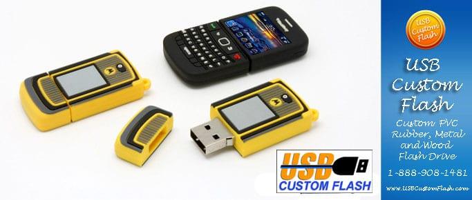 Phone Custom PVC Rubber USB Flash Drives